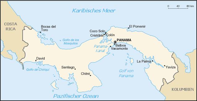 panama weltkarte Landkarte Panama (kleine Übersichtskarte) : Weltkarte.  Karten  panama weltkarte