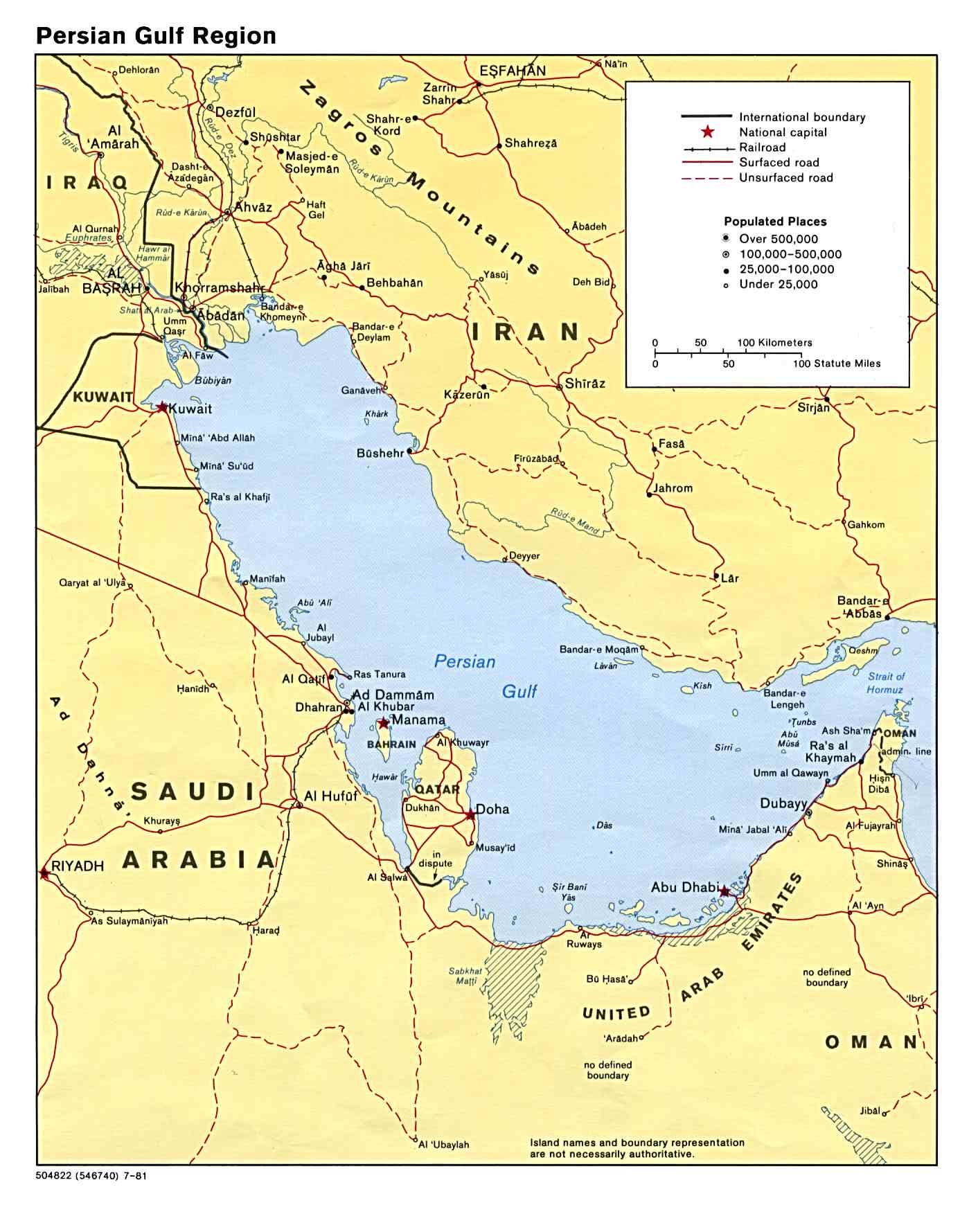 Ubersichtskarte Persischer Golf Weltkarte Com Karten Und