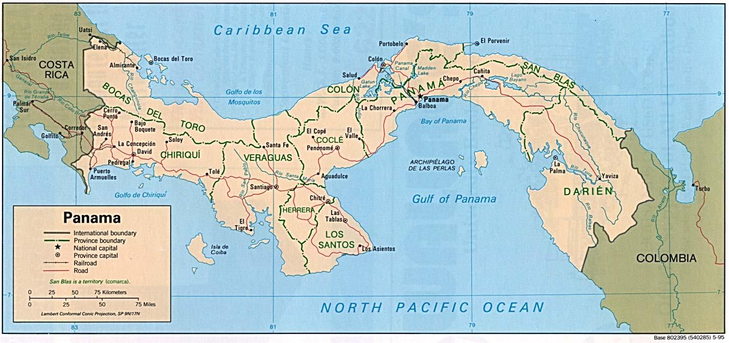 panama weltkarte Landkarte Panama (Politische Karte) : Weltkarte.  Karten und  panama weltkarte