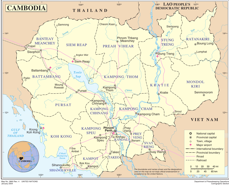 Malaria Kambodscha Karte.Karte Kambodscha Karte