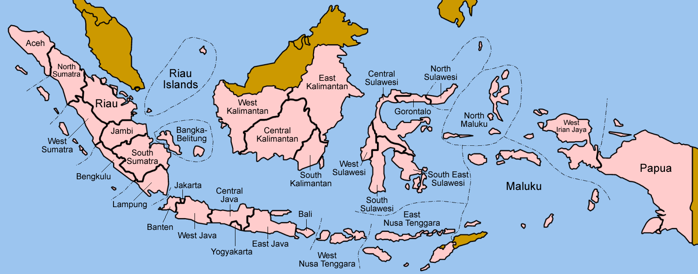 Indonesien Karte.Landkarte Indonesien Provinzen Weltkarte Com Karten