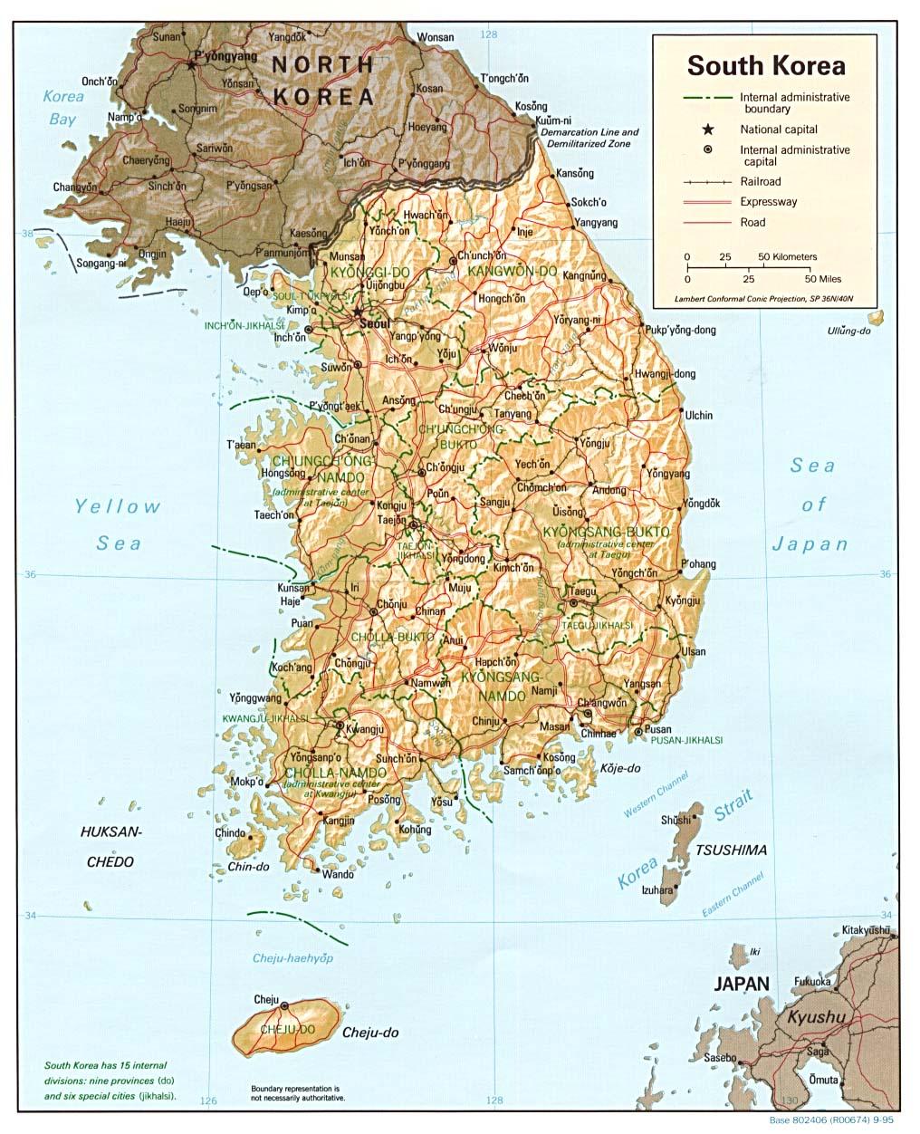 Südkorea Karte.Landkarten Südkorea Reliefkarte Weltkarte Com Karten Und