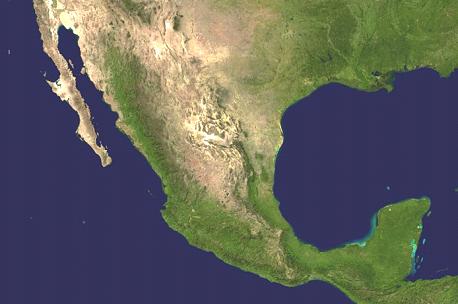 Mexiko Karte Welt.Landkarte Mexiko Satellitenkarte Weltkarte Com Karten