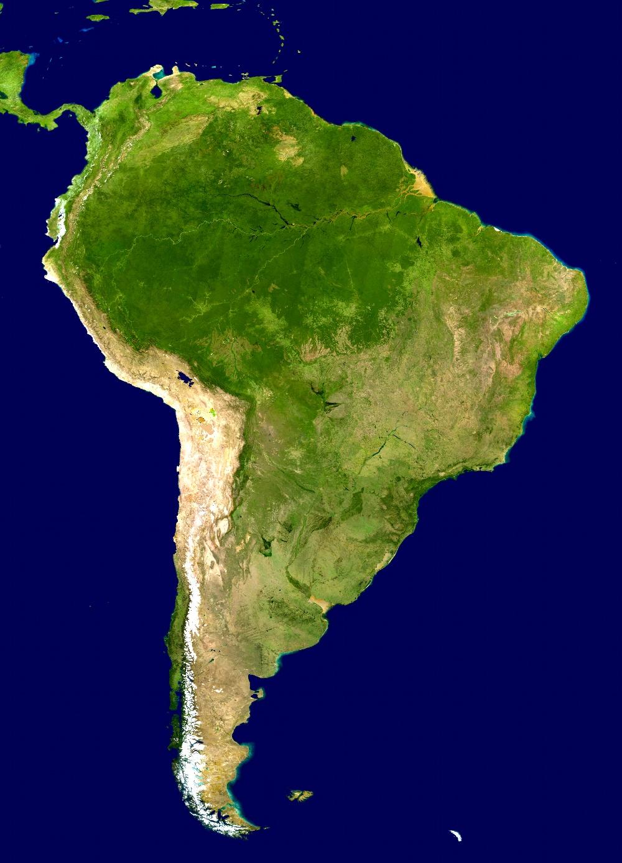 Landkarte Sudamerika Satellitenkarte Weltkarte Com Karten