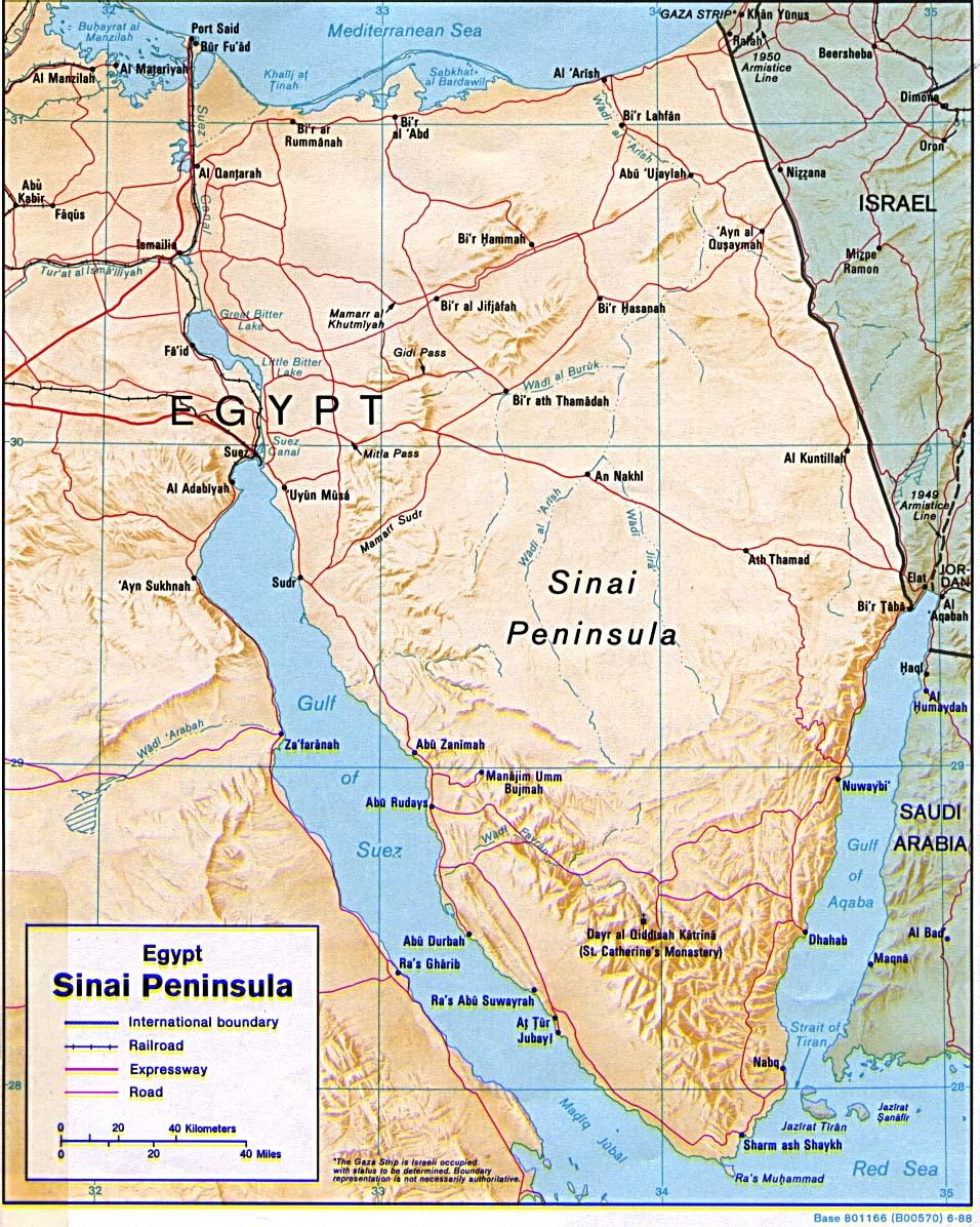sinai halbinsel karte Landkarte Sinai Halbinsel (Reliefkarte) : Weltkarte.  Karten