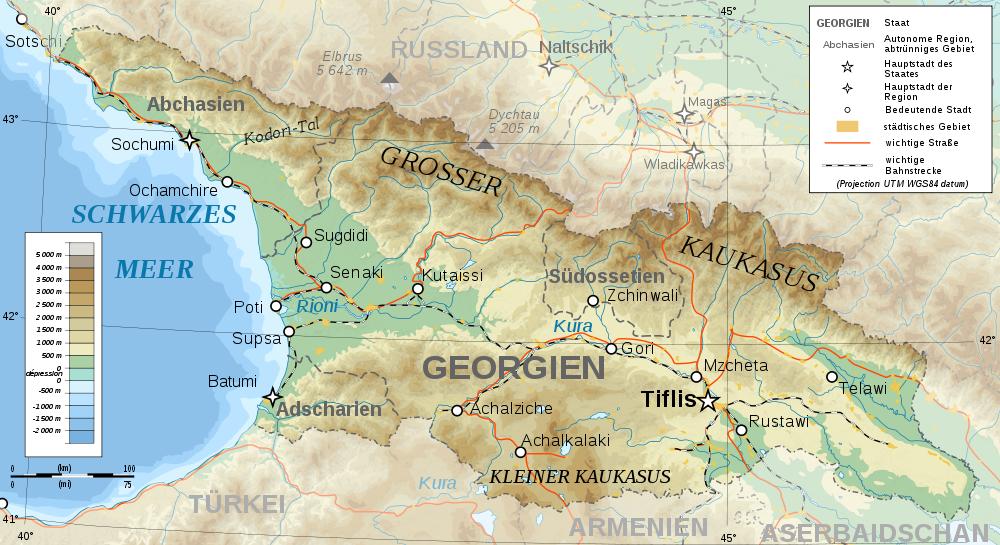 georgien weltkarte Landkarte Georgien (Topographische Karte) : Weltkarte.  Karten  georgien weltkarte