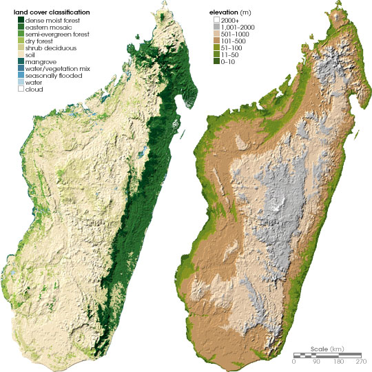 Madagaskar Karte.Landkarte Madagaskar Topographische Karte Weltkarte Com