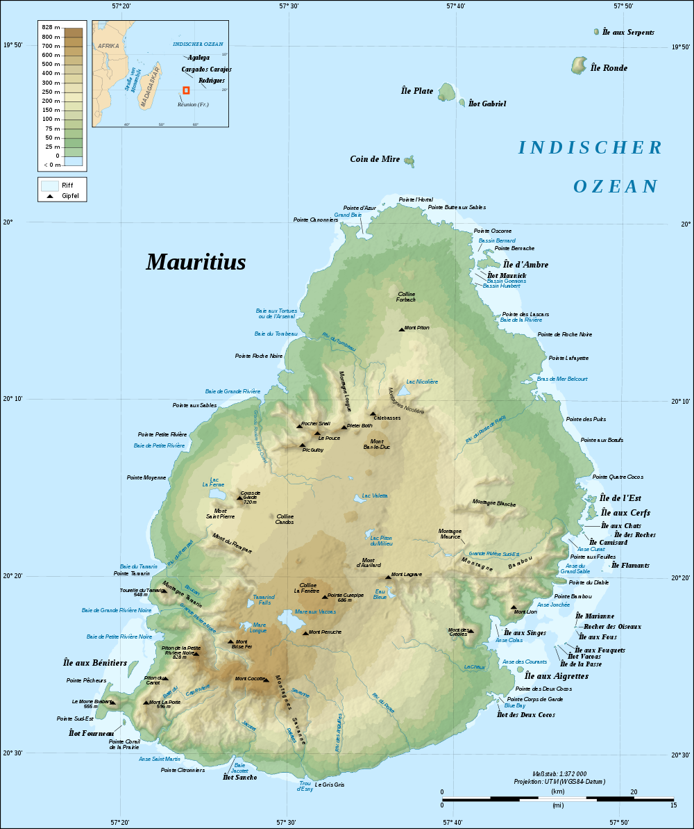 mauritius weltkarte Landkarte Mauritius (Topographische Karte) : Weltkarte. mauritius weltkarte