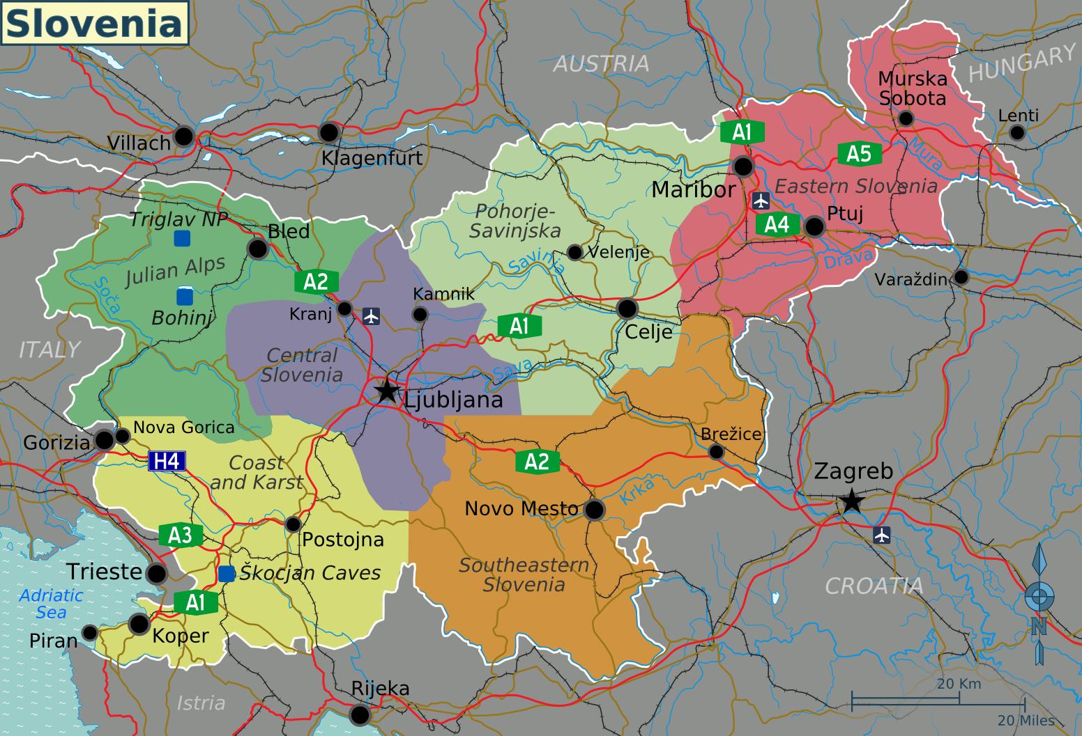slowenien karte Landkarte Slowenien (touristische Karte) : Weltkarte.  Karten