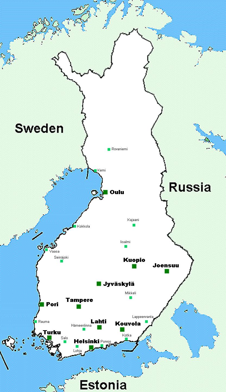 finnland landkarte Landkarte Finnland (Übersichtskarte) : Weltkarte.  Karten und  finnland landkarte