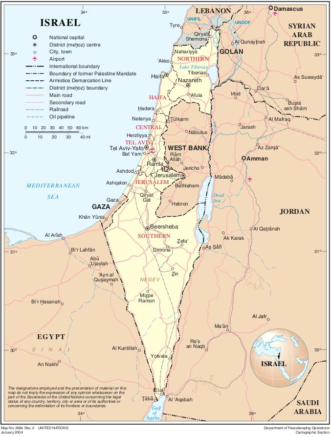 landkarte israel Landkarte Israel (Überischtskarte) : Weltkarte.  Karten und  landkarte israel