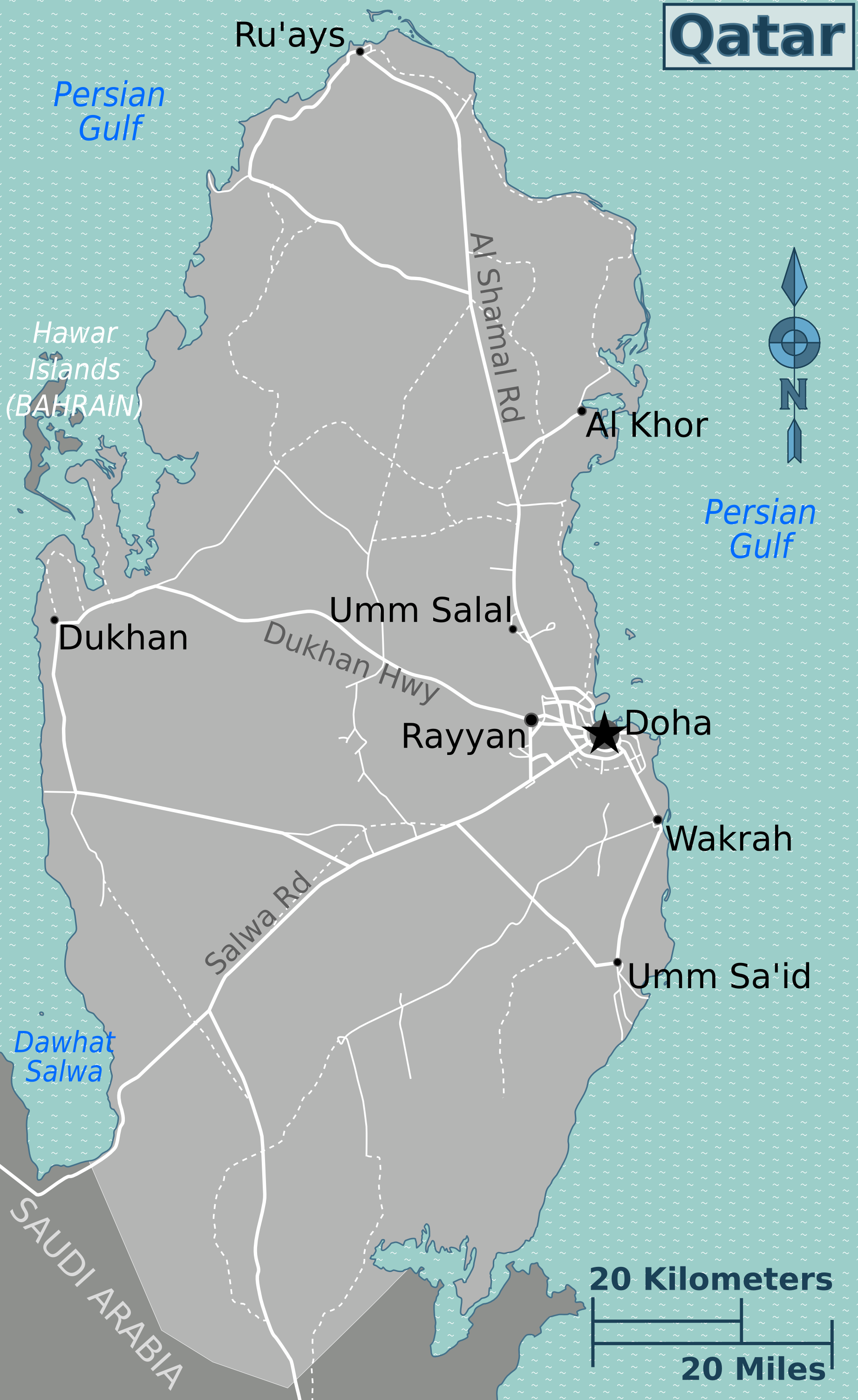 Doha Karte Welt.Landkarte Katar Ubersichtskarte Weltkarte Com Karten