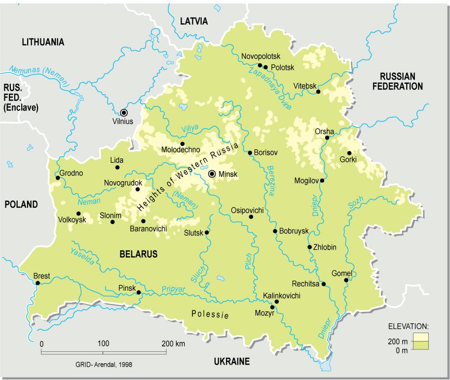 Landkarte Weissrussland Ubersichtskarte Weltkarte Com Karten