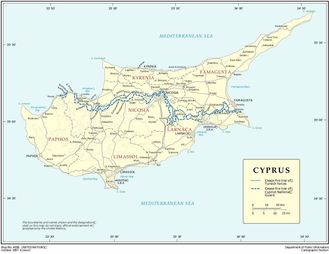 zypern weltkarte Landkarte Zypern (Übersichtskarte) : Weltkarte.  Karten und  zypern weltkarte